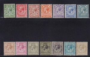 GB Scott # 159 - 172 set OG mint never hinged nice color cv $ 325 ! see pic !