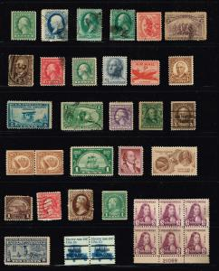 US STAMP ACCUMULATE STAMP COLLECTION LOT #F9