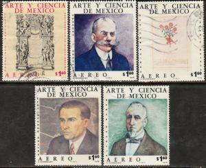 MEXICO C513-C517, Art & Science (Series 5) USED. F-VF. (342)