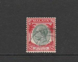 Straits Settlements 1936/7 Defs $2 FU SG 273
