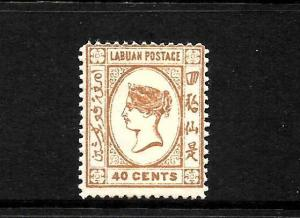 LABUAN  1894  40c  QV  MLH  SG 57
