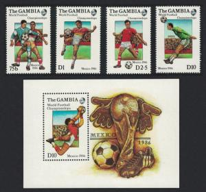Gambia World Cup Football Championship Mexico 1986 4v+MS SG#645-MS649