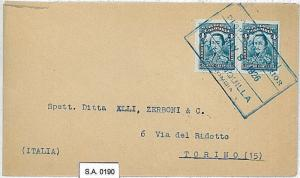 POSTAL HISTORY : COLOMBIA - COVER to ITALY 1926