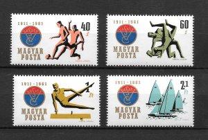 Hungary MNH 1403-5,B219 Sports SCV 1.30