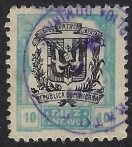 DOMINICAN REPUBLIC 236 USED, 3.00 BIN $1.20 COAT OF ARMS