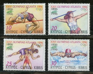 CYPRUS SCOTT #885/88 ATLANTA OLYMPIC GAMES  SET MINT NH