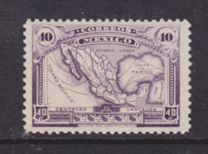 Mexico Sc 626, MNH. 1917 40c violet Map of Mexico, fresh, F-VF