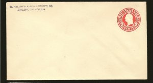 USA U429 Washington Pre-stamped 2Cent #8 Envelope Unused