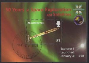 MONTSERRAT SGMS1392 2008 50 YEARS OF SPACE EXPLORATION AND SATELLITES FINE USED