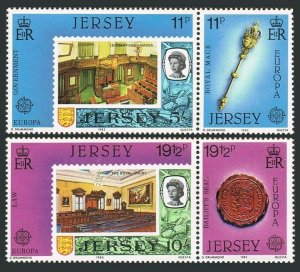 Jersey 306-309a pairs,MNH.Michel 299-302. EUROPE CEPT-1983.Government and Law.