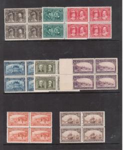 Canada #96 - #103 NH Mint Fresh Set In Blocks