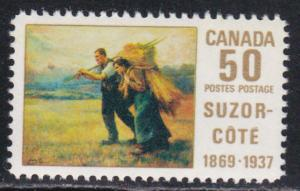 Canada # 492, Harvest Field Painting, Mint NH, Half Cat