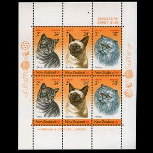 NEW ZEALAND 1983 - Scott# B117a S/S Cats NH