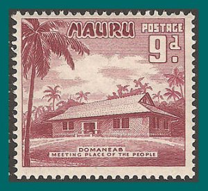 Nauru 1954 Meeting House, 9d MNH #44,SG53