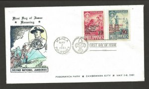 1961 Boy Scouts Philippines 2nd Jamboree FDC Pasananca Park cancel 5