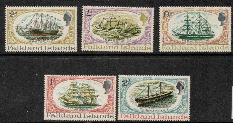 FALKLAND ISLANDS SG258/62 1970 SS GREAT BRITAIN MTD MINT