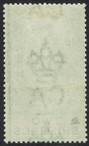 GIBRALTAR 1903 KEVII 2/- WMK CROWN CA