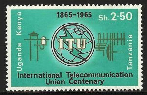 Kenya, Uganda & Tanzania 1965 Scott# 155 MH (gum disturbance)