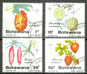 Botswana Sc# 372-375 Used 1985 Edible Wild Cucumbers