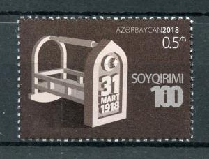 Azerbaijan 2018 MNH March 31 1918 Genocide 100th Anniv 1v Set History Stamps