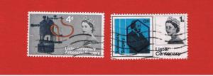 Great Britain  #426-427  VF used  Elizabeth ll   Free S/H