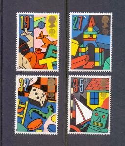 Great Britain   #1256-1259  MNH  1989  Europa children`s games