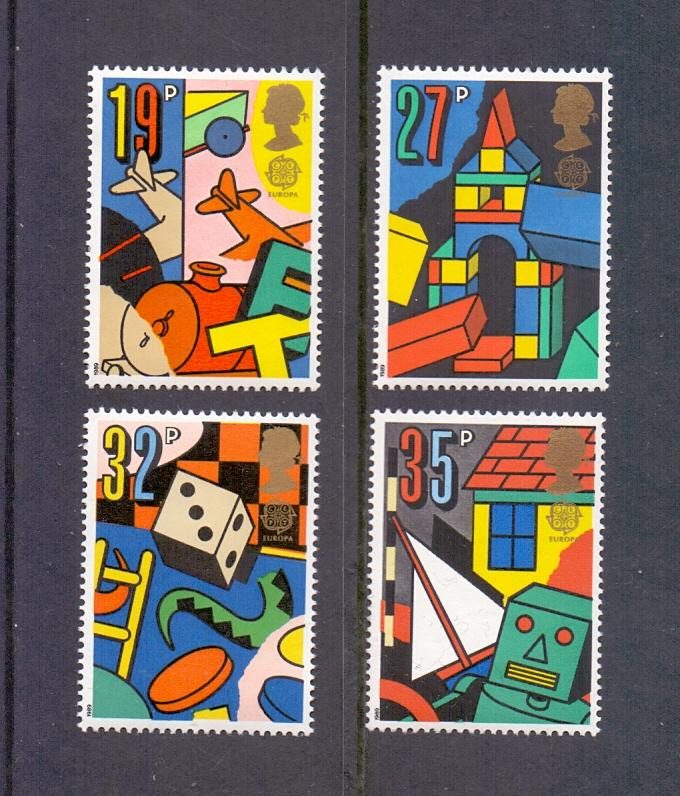 Great Britain  1989  MNH Europa children`s games complete