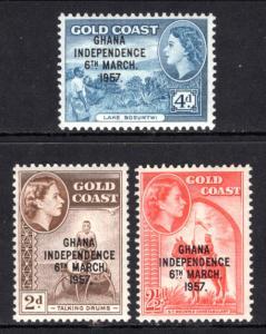 Ghana 25-27 MNH VF