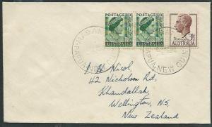 PAPUA NEW GUINEA 1952 cover Australia used in MADANG............38362