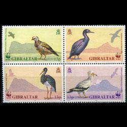 GIBRALTAR 1991 - Scott# 594a WWF-Birds Set of 4 NH