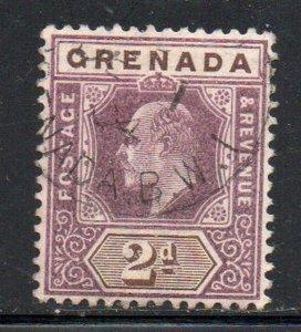 Grenada Sc 50 1902 2 d violet & brown Edward VII stamp used