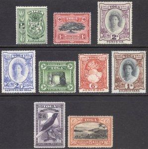 Tonga 1942 0.5d-5s Pict. Wmk Script SG 74-82 Scott 73-81 LMM/MLH Cat£65($84)
