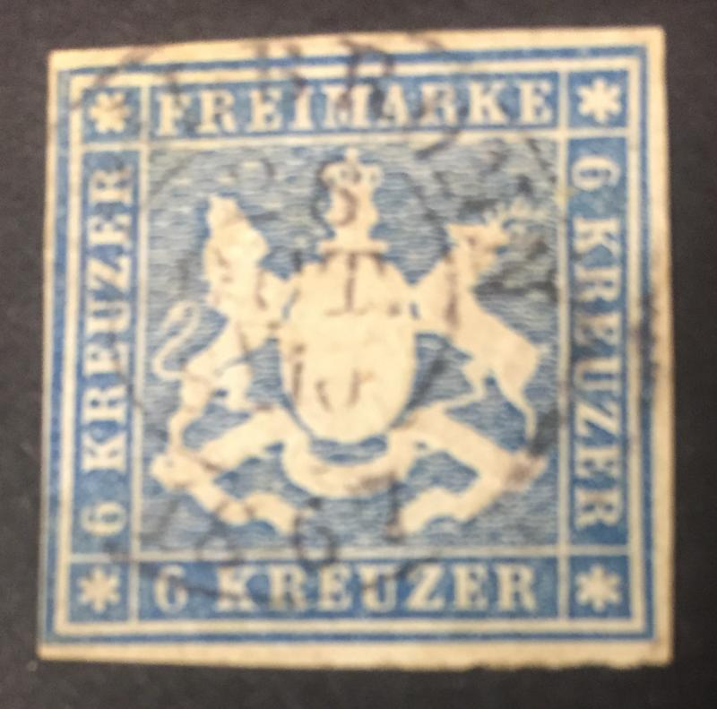 1865 Coat of Arms 6kr Blue