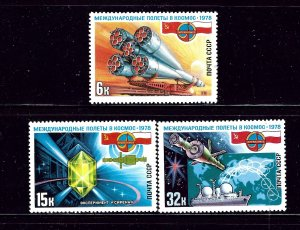 Russia 4670-72 MLH 1978 Space Issues       (P72)
