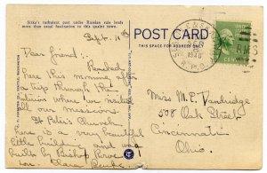 Prexie 1c on post card Seattle & Skagway RPO, Alaska 1940