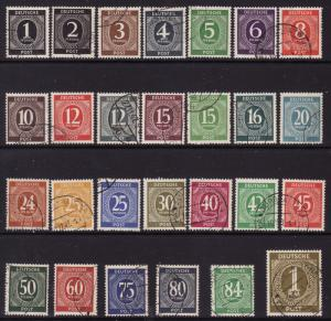 Germany #530-56, F-VF Used Complete Set