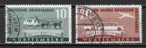 Germany (Wurttemberg) 8N38-39 100th Stamps set Used