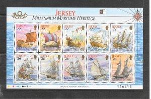 SHIPS - JERSEY #950a  MARITIME HERITAGE  MNH