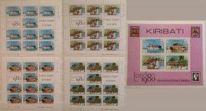 Kiribati 1980 International Stamp Exhibition London 1980 England 5 items MSheets