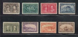 CANADA KKMK99 # 96-103 FVF-VF-MH/MNG COMPLETE QUEBEC TERCENTENARY CAT VALUE $750