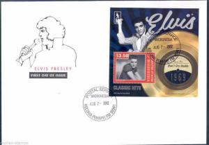 MICRONESIA  35th MEMORIAL ANNIVERSARY  ELVIS PRESLEY 'DON'T CRY DADDY'  S/S  FDC