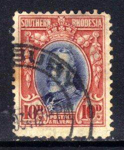 Southern Rhodesia 1931 - 37  KGV 10d used SG 22 perfs 12 ( D206 )