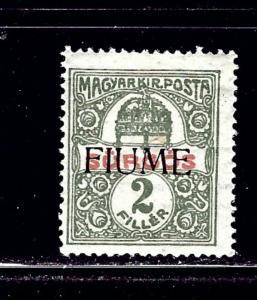 Fiume E1 MH 1918 overprint