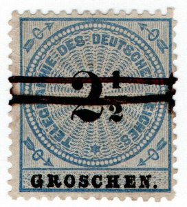 (I.B) Germany Telegraphs : 2½gr Blue & Black