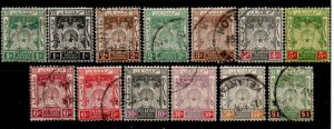 MALAYA KELANTAN SG14/23 1921-8 SCRIPT WMK DEFINITIVE SET USED