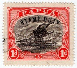 (I.B) Papua Revenue : Stamp Duty 1d