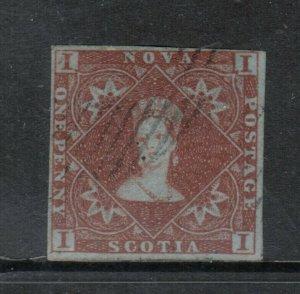 Nova Scotia #1 Very Fine Used **With Certificate**