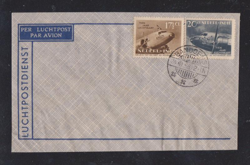 UNUSED/STAMPED Netherlands Indies Airmail Cover