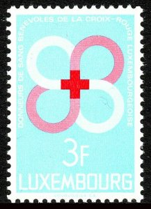 Luxembourg 472, MNH. Voluntary Red Cross blood donors, 1968
