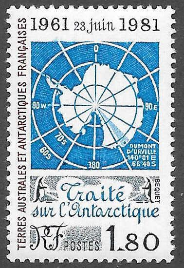 French Southern Antarctic Territories FSAT TAAF Scott 94 M NH Cat US$4